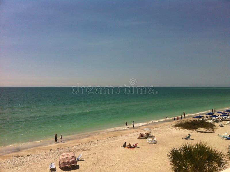 SoluppgångLido strand arkivfoton