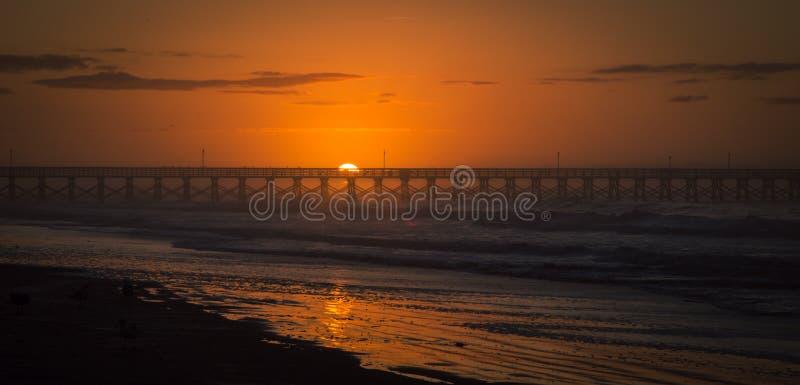 SoluppgångMytrle strand arkivfoto