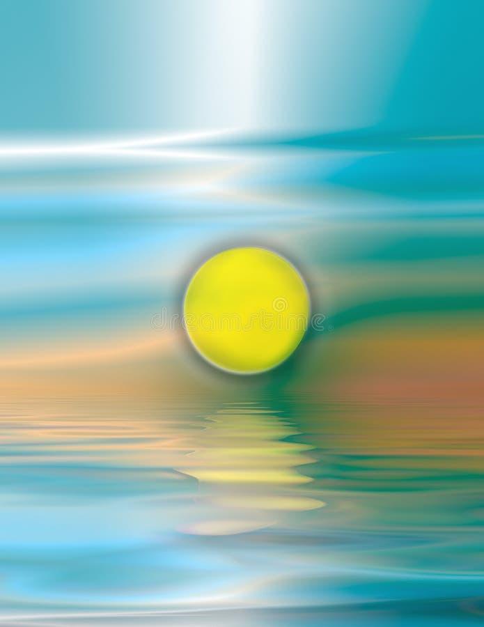 soluppgångvattenfärg vektor illustrationer