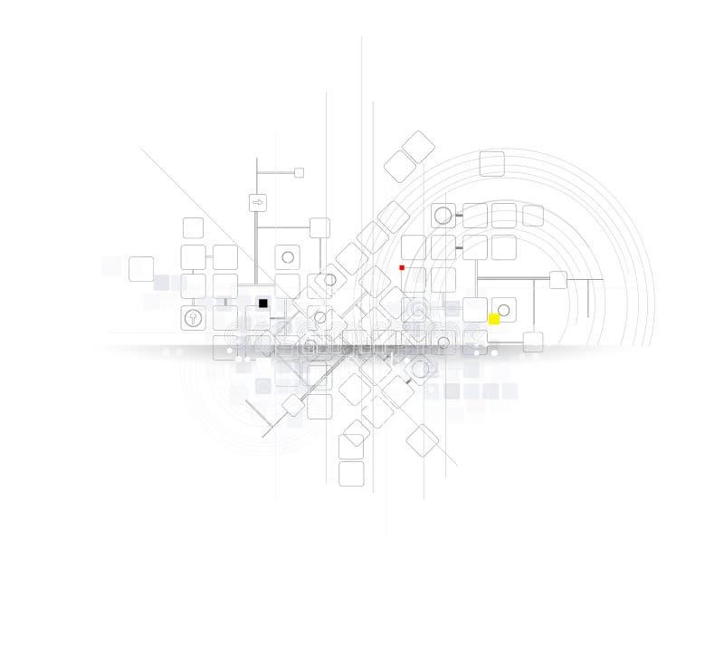 Solutio futurista del negocio de la informática de Internet de la ciencia stock de ilustración