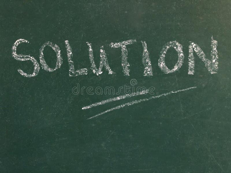 Solution, ?crite sur un tableau images libres de droits
