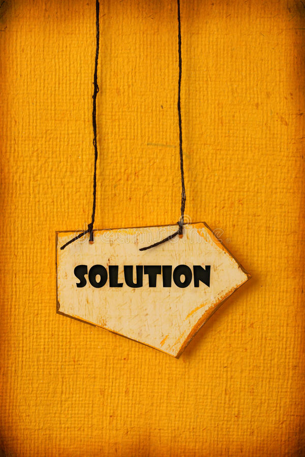 Solution photo stock