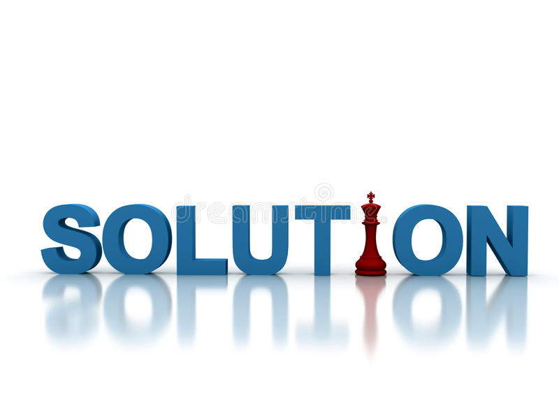 Solution illustration stock