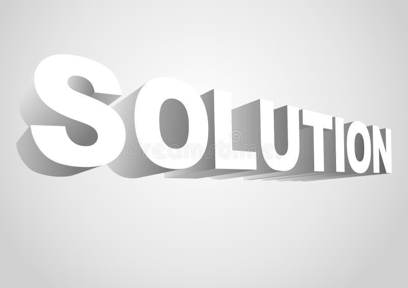 solution illustration libre de droits