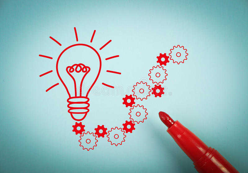 Solution bulb royalty free stock photography