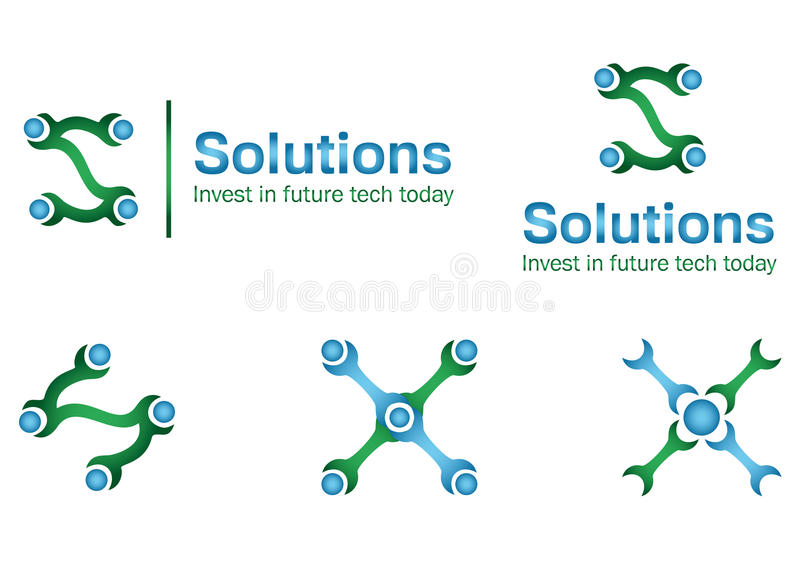 Solution business logo royalty free stock photos