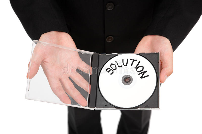 Download Solution CD stock photo. Image of offer, software, label - 16114052