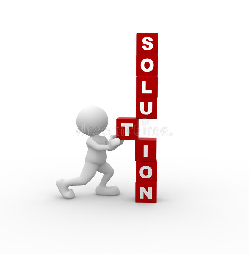 Solution concept royalty free illustration