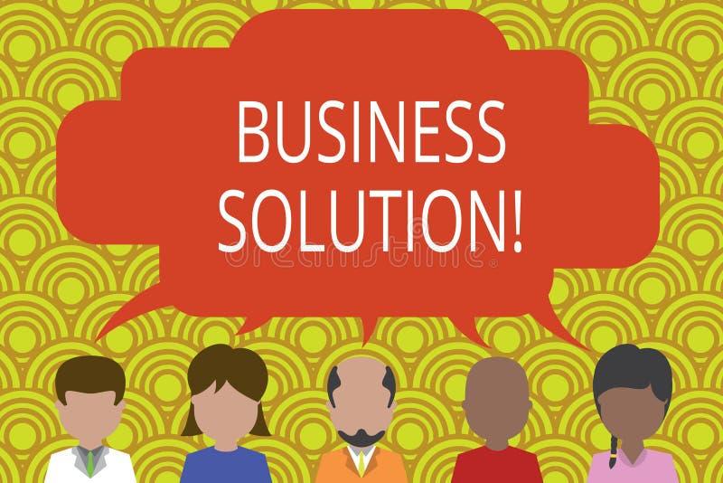 Solution conceptuelle d'affaires d'apparence d'?criture de main Services des textes de photo d'affaires qui incluent la planifica illustration libre de droits