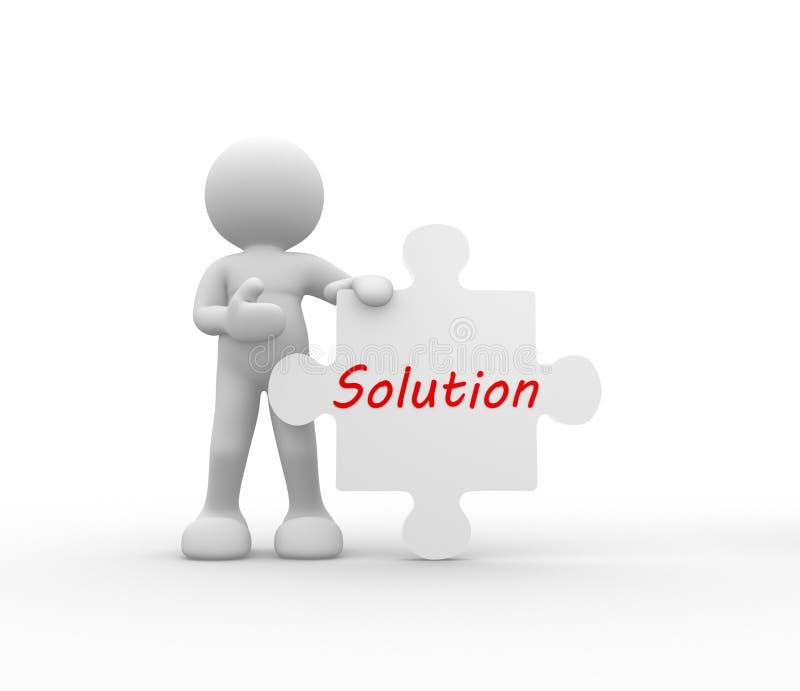 Download Solution stock illustration. Illustration of link, character - 39513113