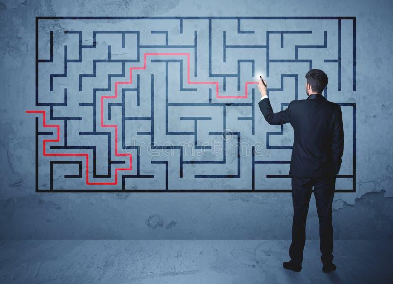 Solution d'un labyrinthe images stock