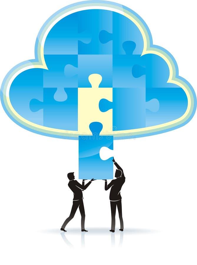 Solution de calcul de nuage illustration de vecteur