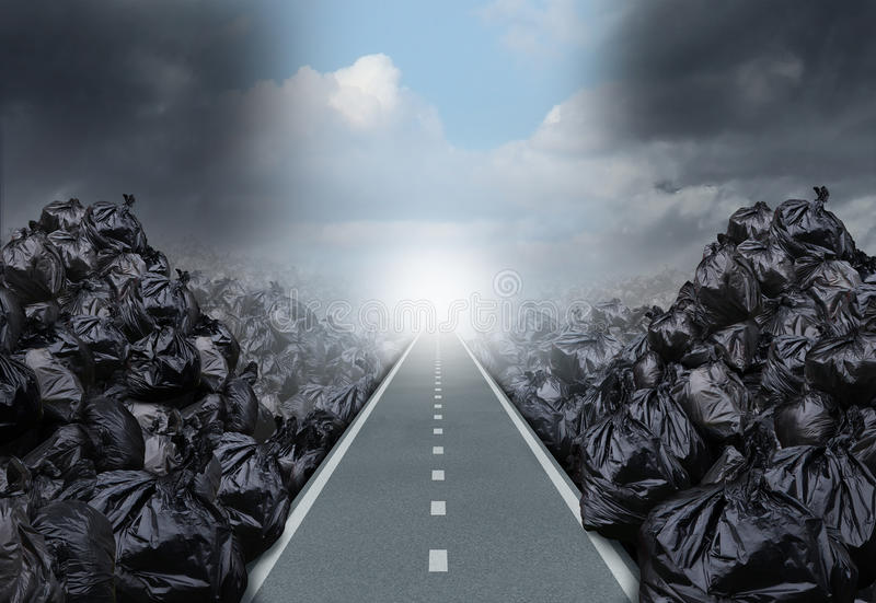Solution de déchets illustration libre de droits