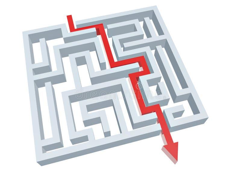 Solution de labyrinthe illustration stock