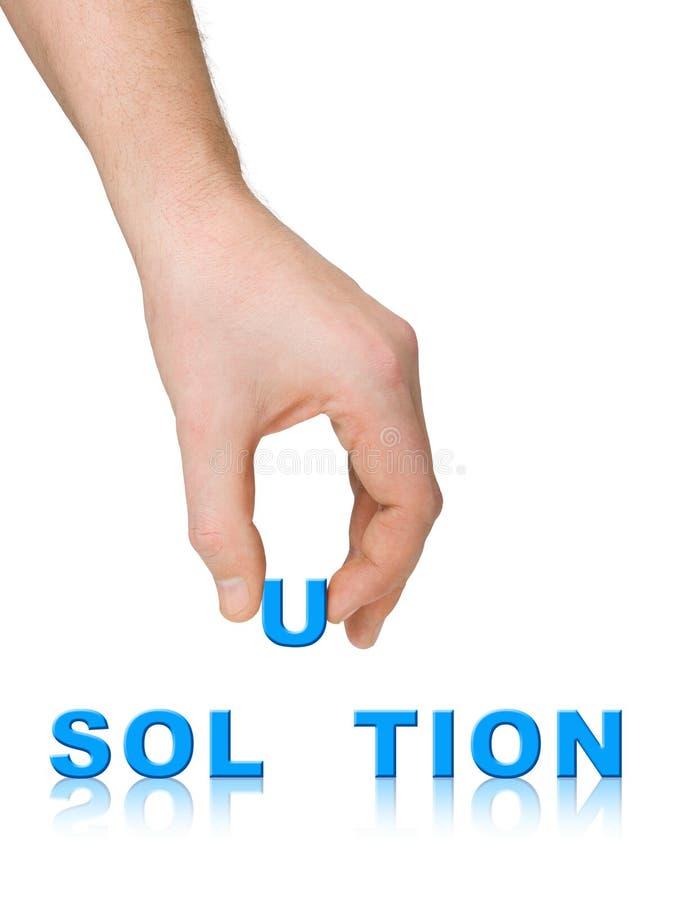 Solution de main et de mot image libre de droits