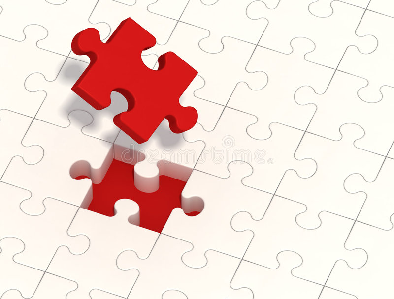 Solution de puzzle illustration stock