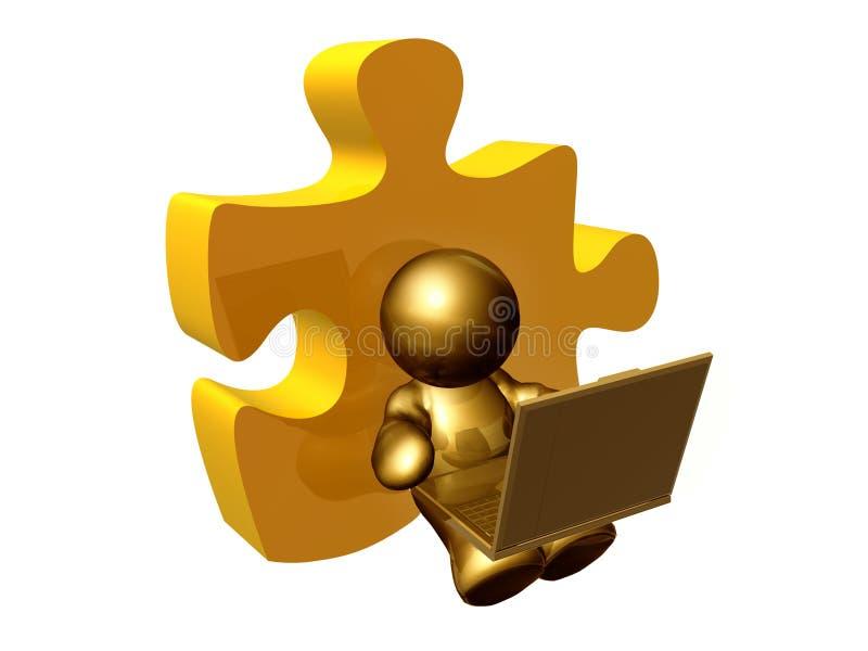 solution de puzzle de partie photographie stock