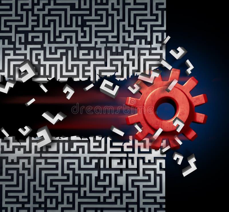 Solution de réussite commerciale illustration libre de droits