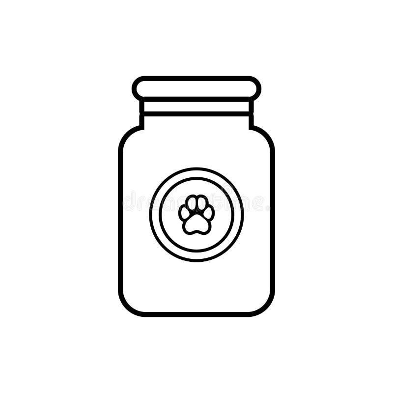 Solution de traitement pour l'icône d'animaux, style d'ensemble illustration libre de droits