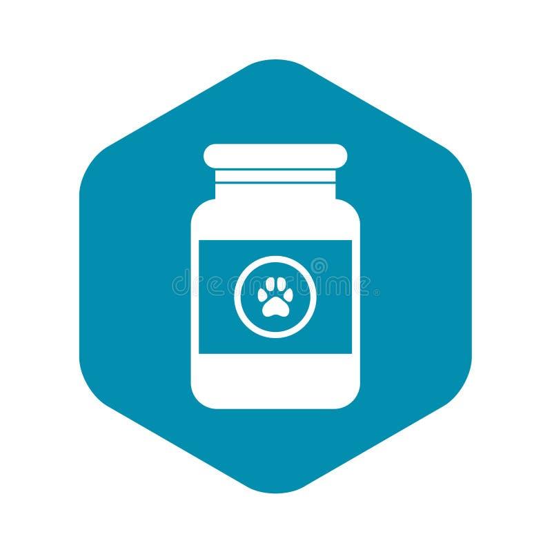 Solution de traitement pour l'icône d'animaux, style simple illustration de vecteur