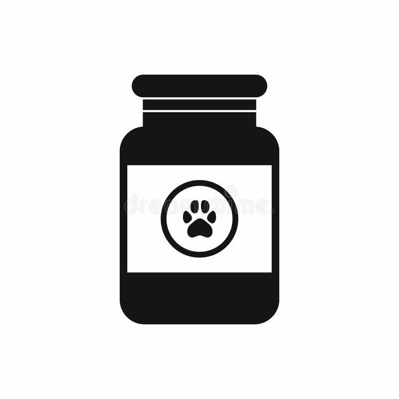 Solution de traitement pour l'icône d'animaux, style simple illustration stock