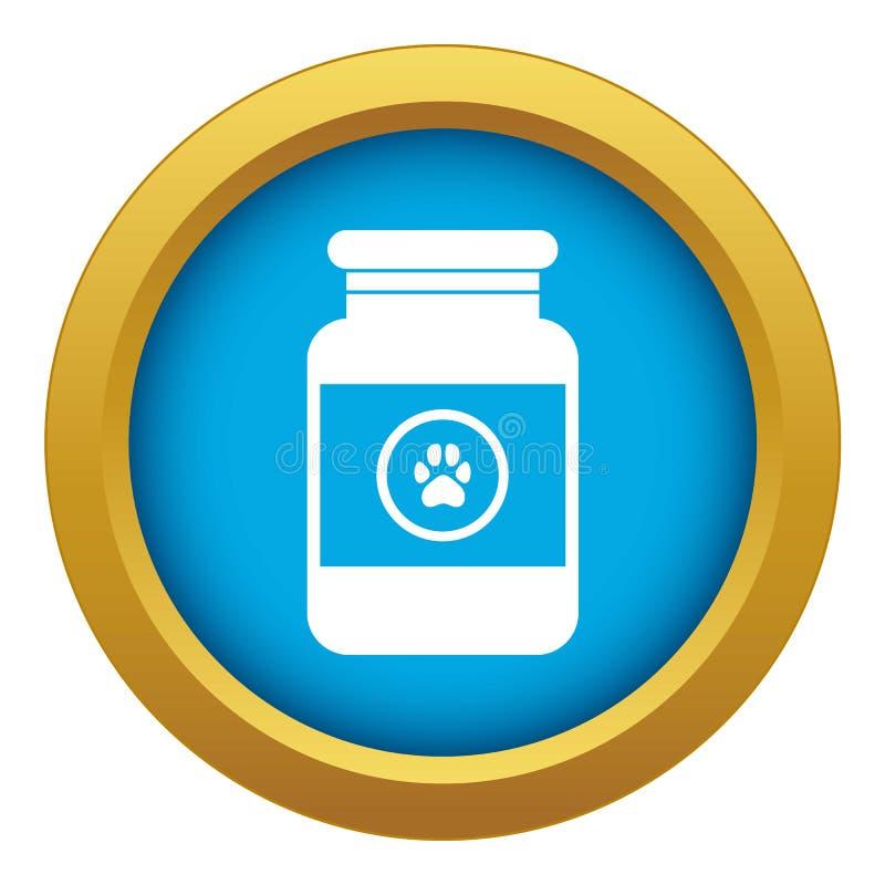 Solution de traitement pour le vecteur bleu d'icône d'animaux d'isolement illustration libre de droits