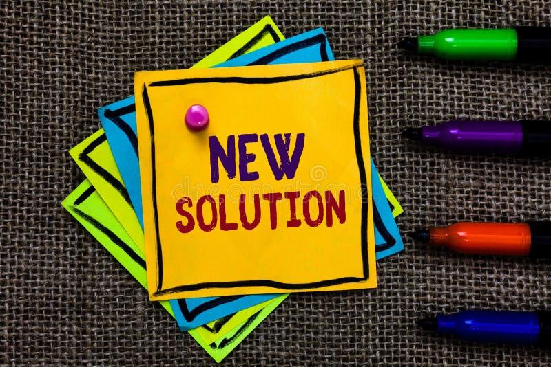 Solution des textes d'écriture de Word nouvelle Le concept d'affaires pour l'approche efficace moderne d'innovation le plus tard  images stock
