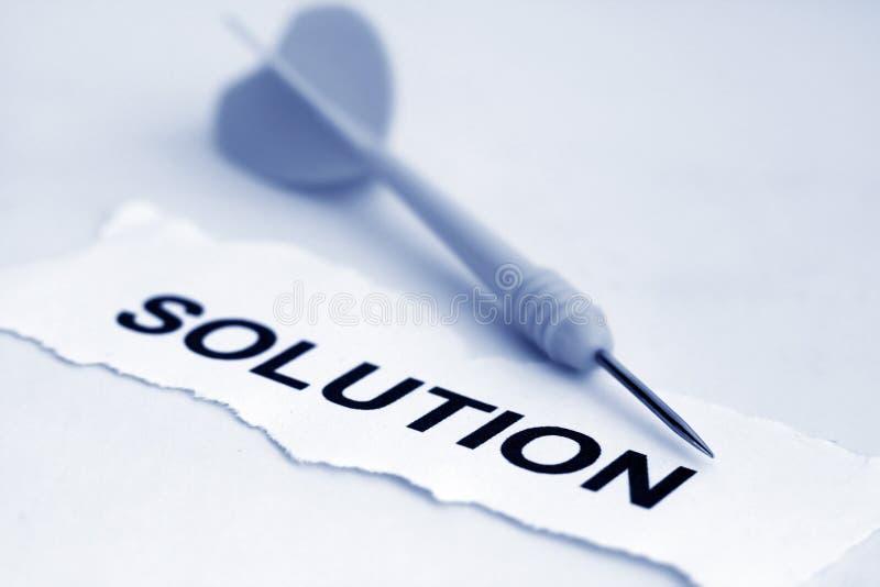 Solution et dard photos stock