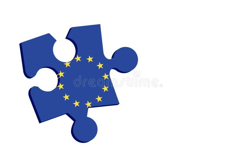 solution européenne illustration libre de droits