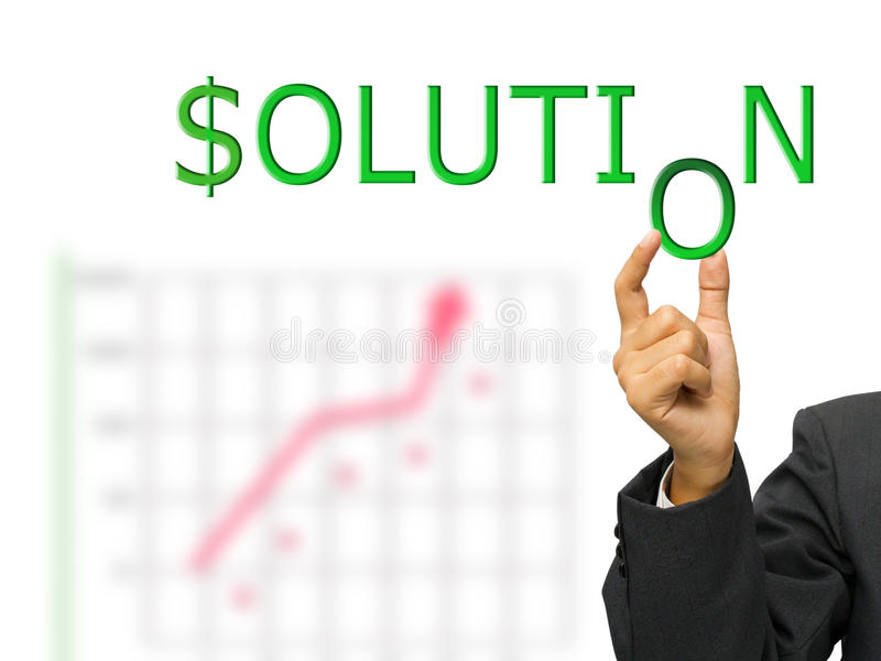 Download Solution and hand stock illustration. Image of success - 21910209