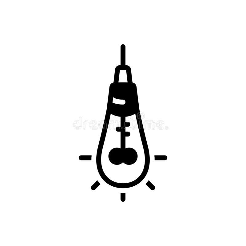 Black solid icon for Solution, concept and crisis royalty free illustration