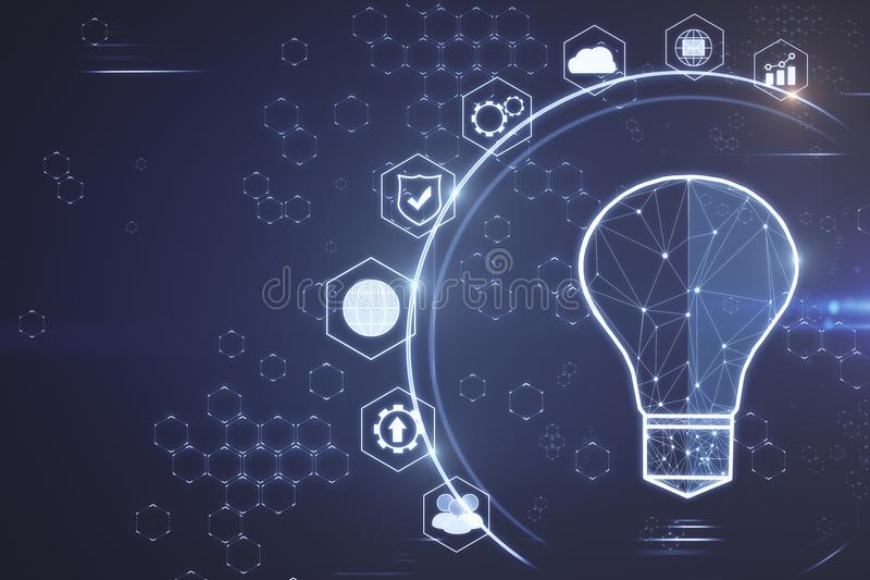 Solution and idea concept vector illustration