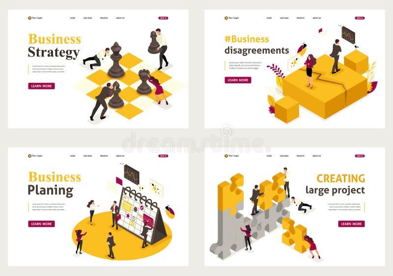 Solution isométrique d'affaires illustration libre de droits