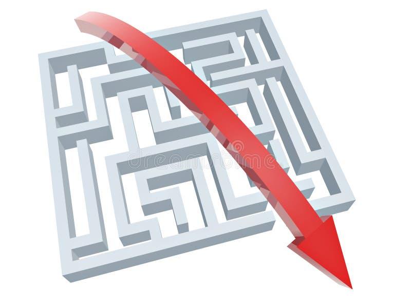 Download Solution of maze stock illustration. Image of design - 21209877