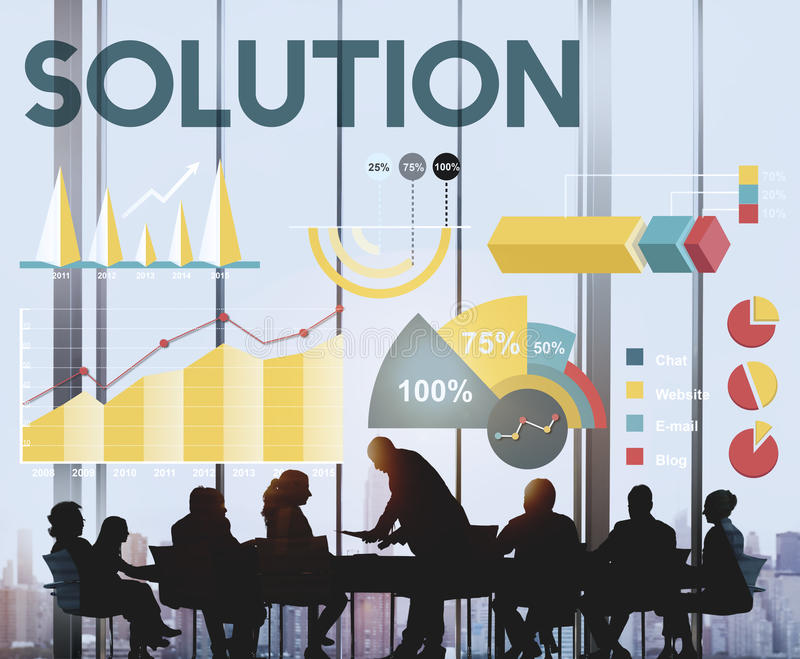 Solution Percentage Business Chart Concept. Solution Percentage Business Chart Graph stock photography