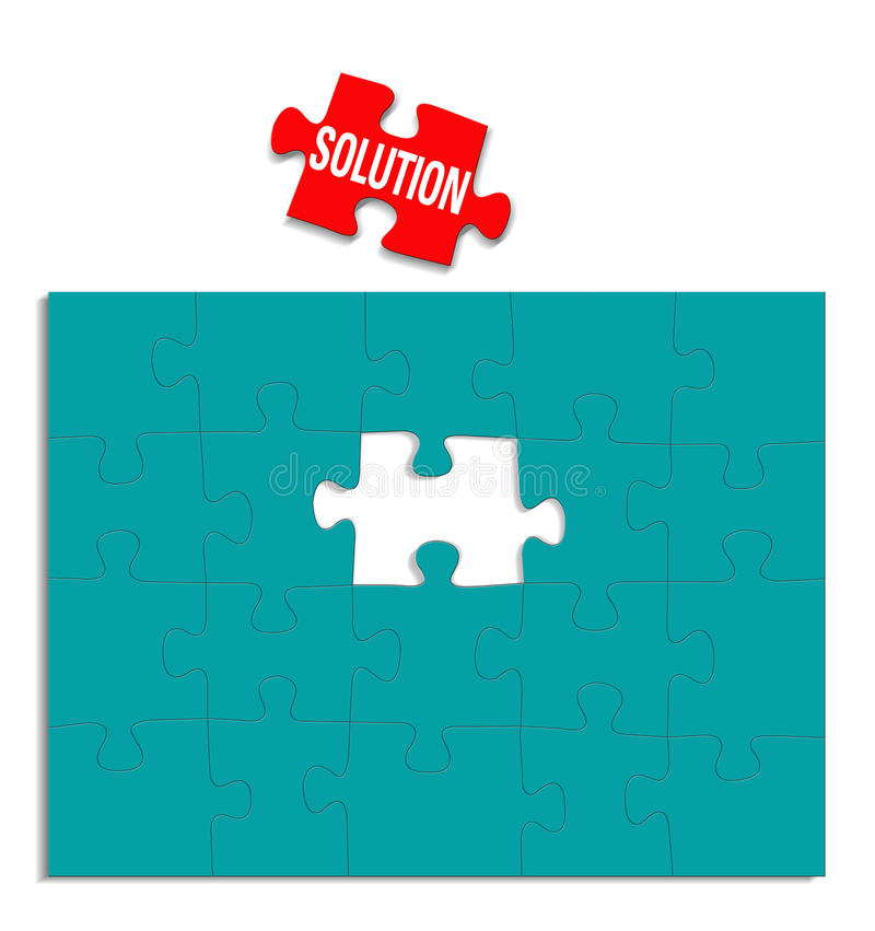 Solution Puzzle Brain Storming stock illustration