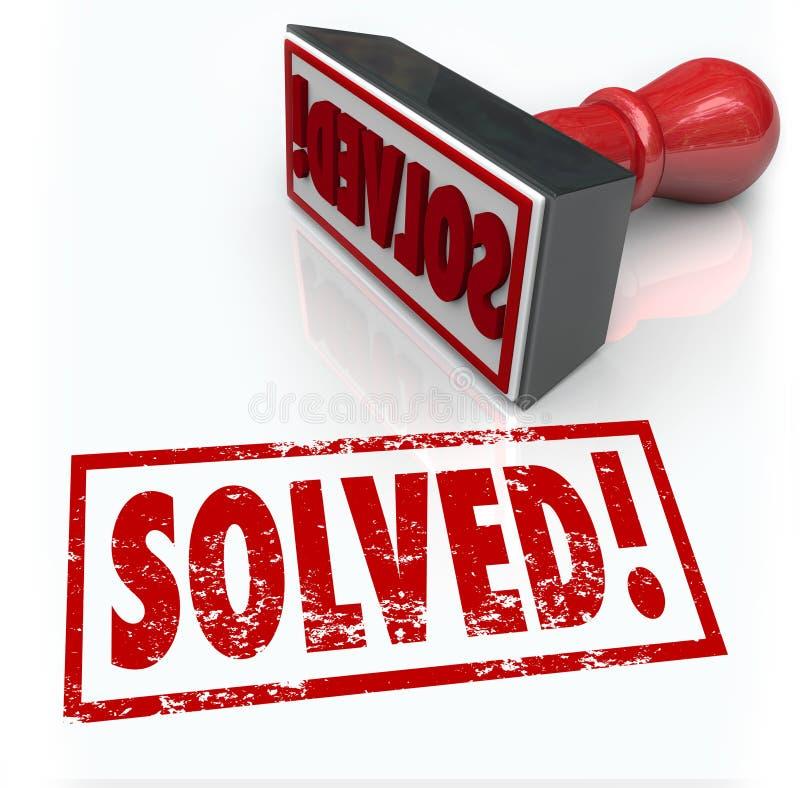 Solution résolue de timbre au défi de problème surmonté illustration de vecteur