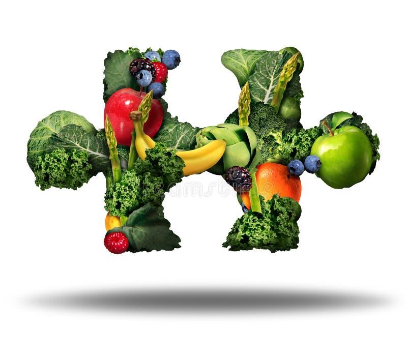 Solution saine de nourriture illustration de vecteur