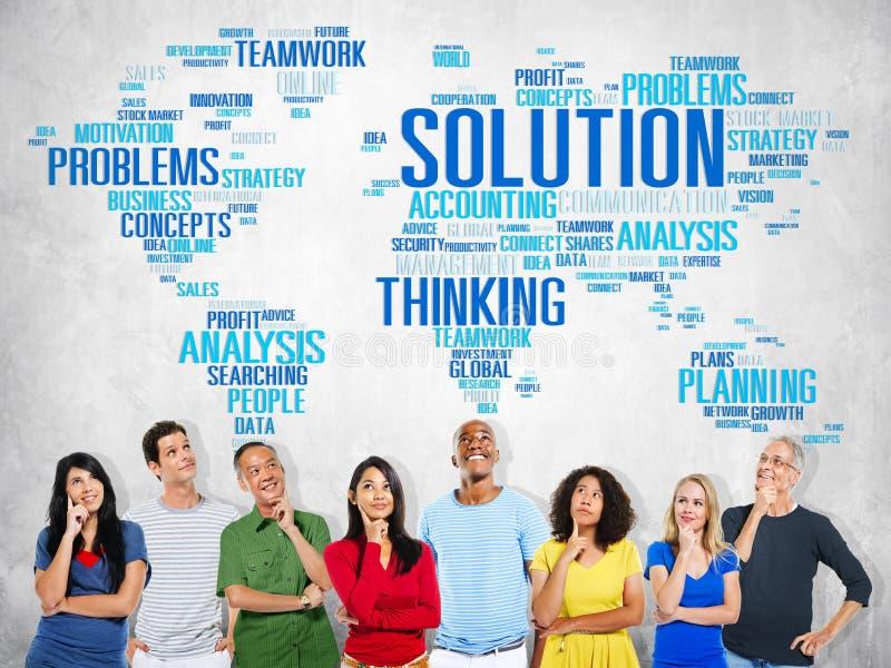 Solution Solve Problem Strategy Vision Decision Concept stock images