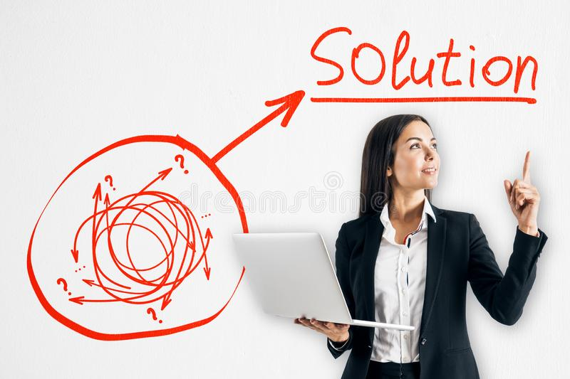 Solution and success concept stock photo