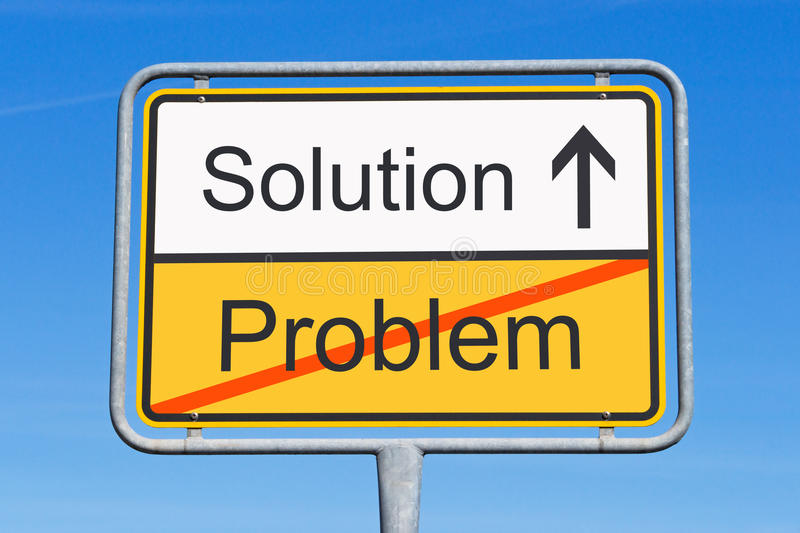 Solution to problem sign