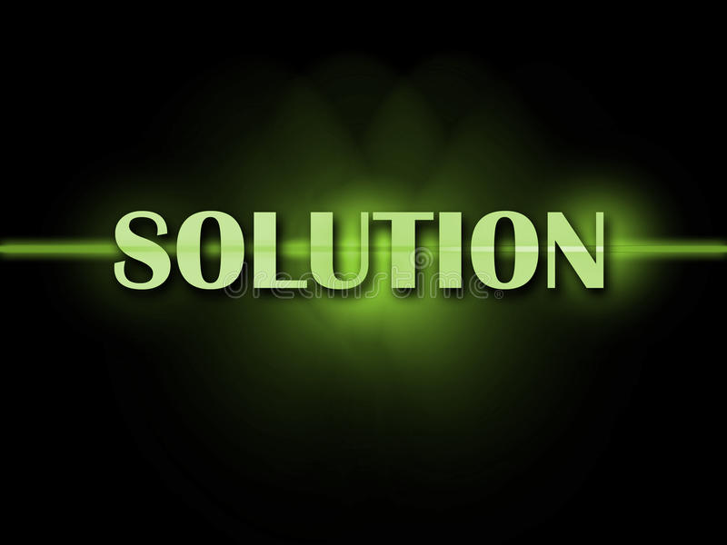 Solution Word Shows Resolve Resolution Solving royalty free illustration
