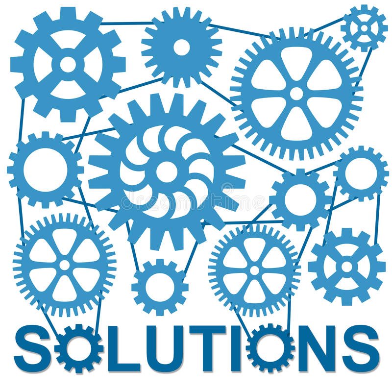 Solutions. Finding solutions to complicated problems royalty free illustration