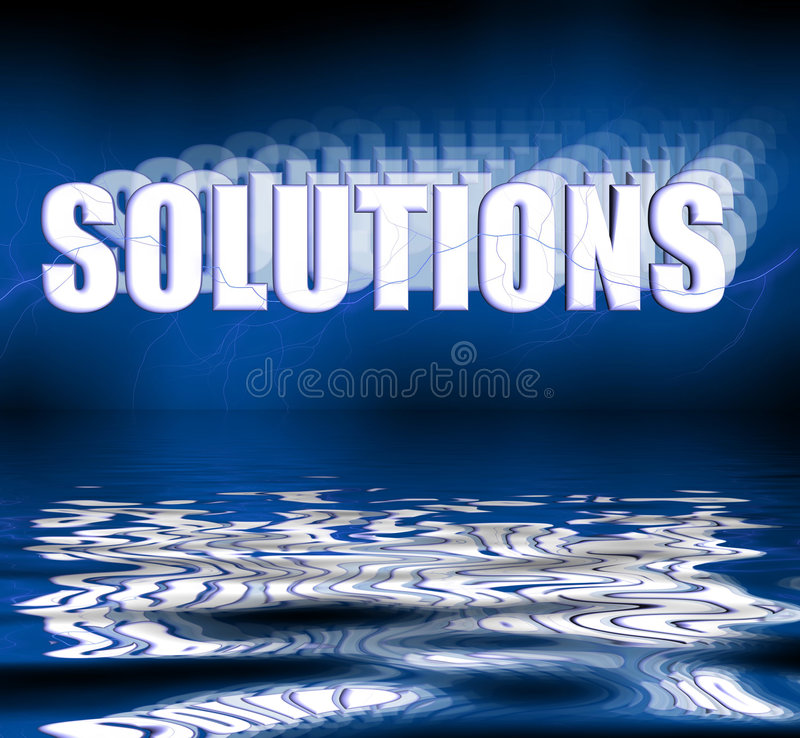 Solutions 3D Reflection stock illustration