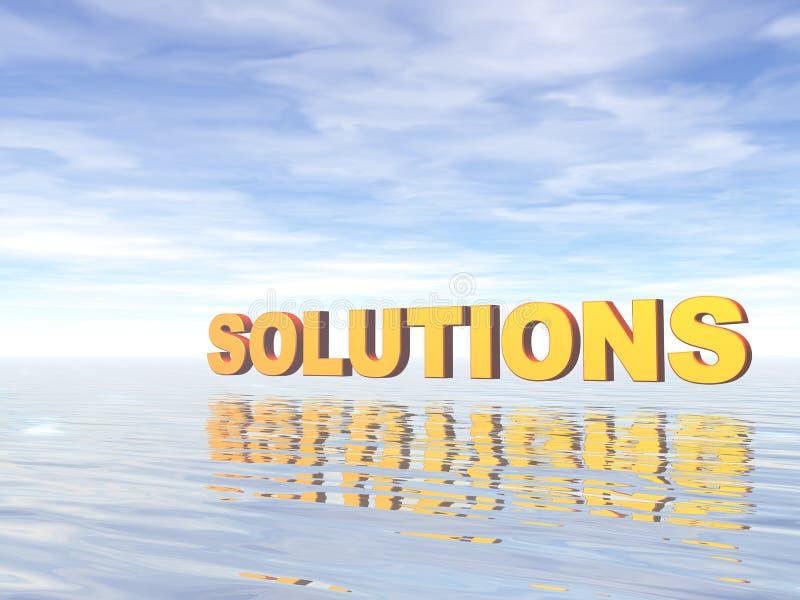 Solutions illustration libre de droits