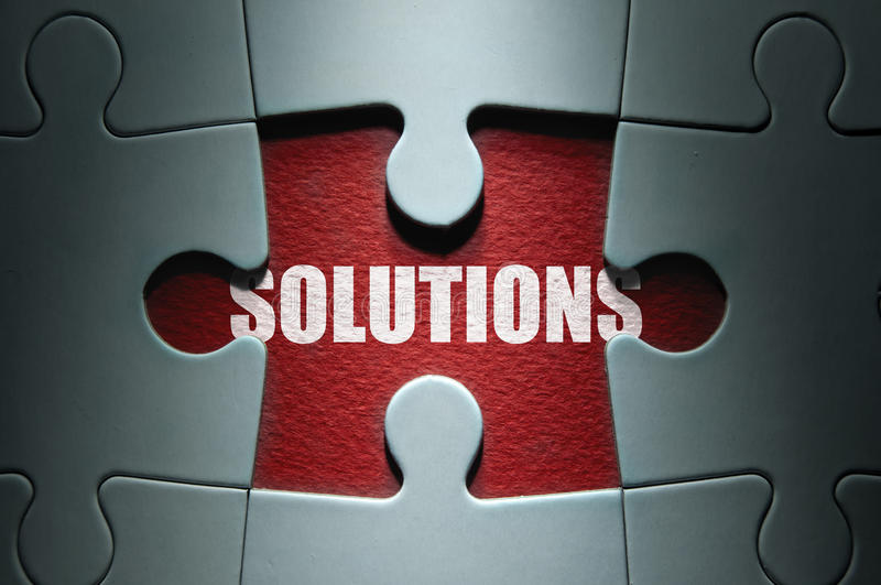 Solutions photographie stock