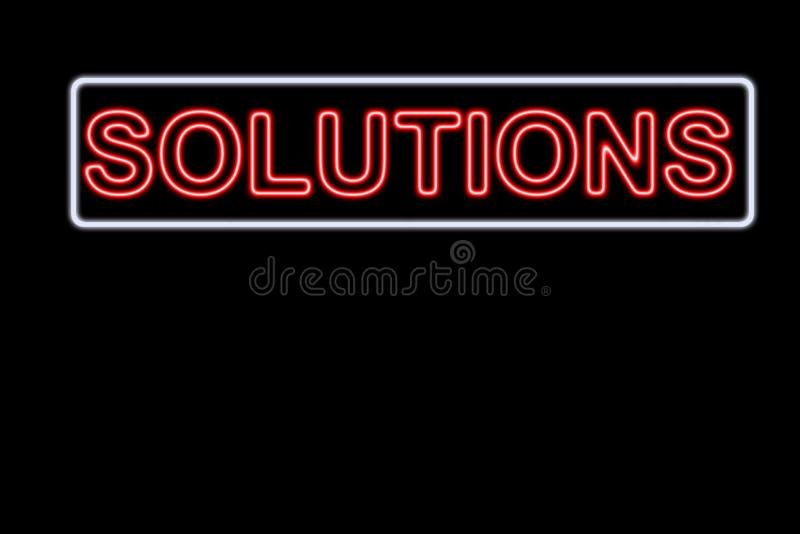 Solutions royalty free illustration