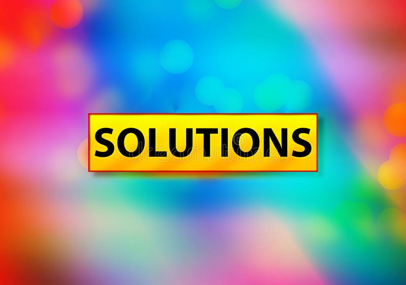 Solutions Abstract Colorful Background Bokeh Design Illustration. Solutions Isolated on Yellow Banner Abstract Colorful Background Bokeh Design Illustration vector illustration