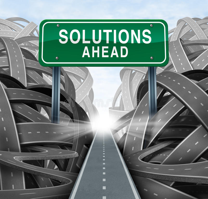 Download Solutions Ahead stock illustration. Illustration of path - 30560834