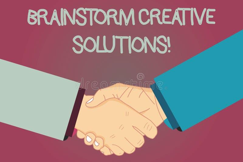 Solutions créatives de main d'écriture d'échange d'idées conceptuel d'apparence Groupe intensif et indépendant des textes de phot illustration de vecteur